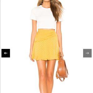 Brand new yellow Tularosa skirt